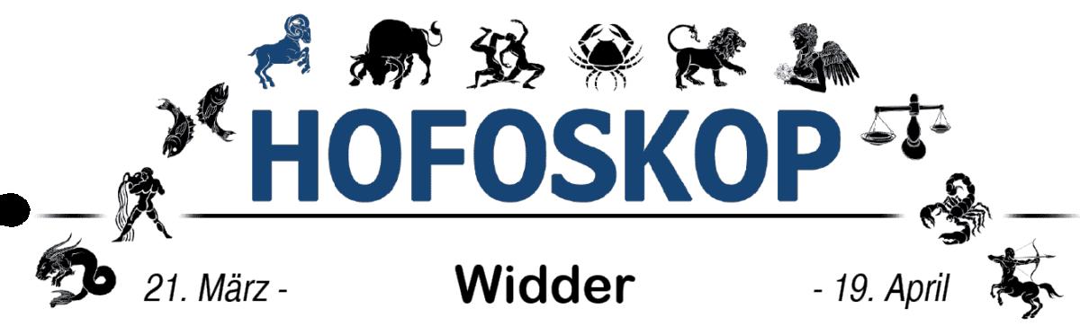 Hofoskop: Widder (21.03.-19.04.)